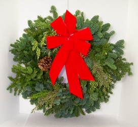 Evergreen Wreath from Swindler and Sons Florists in Wilmington, OH