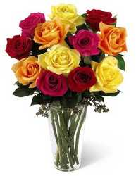 Bright Spark Rose Bouquet from Swindler and Sons Florists in Wilmington, OH