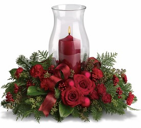 Holiday Glow Centerpiece from Swindler and Sons Florists in Wilmington, OH