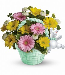 Teleflora's Send a Hug™ Bunny Hop from Swindler and Sons Florists in Wilmington, OH