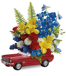 Teleflora's '65 Ford Mustang Bouquet  from Swindler and Sons Florists in Wilmington, OH