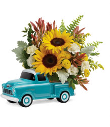 Chevy Pickup Bouquet from Swindler and Sons Florists in Wilmington, OH