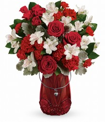Teleflora's Red Haute Bouquet from Swindler and Sons Florists in Wilmington, OH