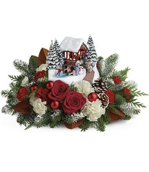 Thomas Kinkade's Snowfall Dreams Bouquet from Swindler and Sons Florists in Wilmington, OH