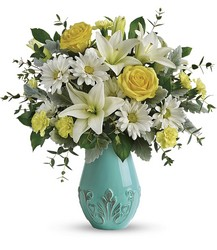 Teleflora's Aqua Dream Bouquet from Swindler and Sons Florists in Wilmington, OH
