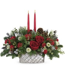 Teleflora's Merry Mercury Centerpiece from Swindler and Sons Florists in Wilmington, OH