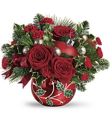 Teleflora's Deck The Holly Ornament Bouquet from Swindler and Sons Florists in Wilmington, OH