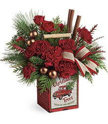 Teleflora's Merry Vintage Christmas Bouquet from Swindler and Sons Florists in Wilmington, OH