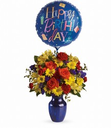 Fly Away Birthday Bouquet from Swindler and Sons Florists in Wilmington, OH