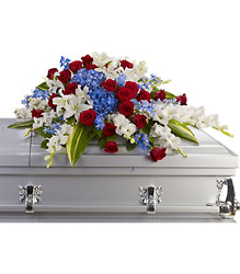Distinguished Service Casket Spray from Swindler and Sons Florists in Wilmington, OH