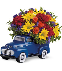 Teleflora's '48 Ford Pickup Bouquet from Swindler and Sons Florists in Wilmington, OH