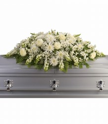 Enduring Light Casket Spray from Swindler and Sons Florists in Wilmington, OH