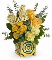 Teleflora's Shimmer Of Thanks Bouquet from Swindler and Sons Florists in Wilmington, OH