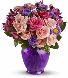 Teleflora's Purple Medley from Swindler and Sons Florists in Wilmington, OH
