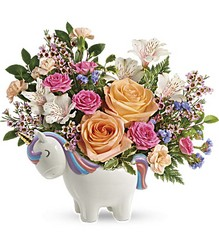 Magical Garden Unicorn Bouquet from Swindler and Sons Florists in Wilmington, OH