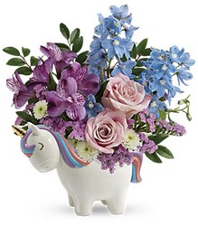 Enchanting Pastels Unicorn Bouquet from Swindler and Sons Florists in Wilmington, OH