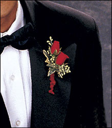 Red-Hot Roses Boutonniere from Swindler and Sons Florists in Wilmington, OH