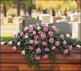 Heavenly Pink Casket Spray from Swindler and Sons Florists in Wilmington, OH