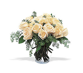 White Roses from Swindler and Sons Florists in Wilmington, OH
