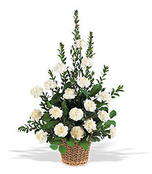 White Simplicity Basket from Swindler and Sons Florists in Wilmington, OH