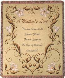 """A Mother's Love"" Throw from Swindler and Sons Florists in Wilmington, OH"